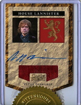 2016 Game Of Thrones Season 5 - PETER DINKLAGE Autograph Relic card Incentive