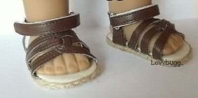 "Brown Sandals Doll Shoes for 18"" American Girl & Baby Widest Selection Online!"