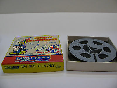 Woody Woodpecker 8mm movie #494 Solid Ivory