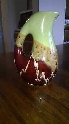 Vintage drip-glaze pitcher from Germany - 16 cm in Very Good Condition