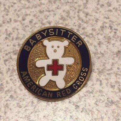 Baby Sitter American Red Cross Pin