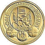 Rare 2011 Capital Cities UK Cardiff £1 One Pound Coin