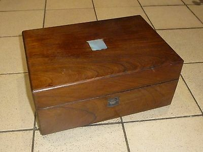 A Victorian Rosewood Sewing Box c1850/60