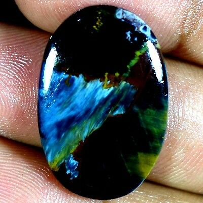 22.60Cts. 100% NATURAL MIND BLOWING PIETERSITE OVAL CABOCHON CHATOYANT GEMSTONES