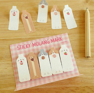 Molang Sticky Mark Post-it Memo Note Pad Bookmark Index Cute Point Marker