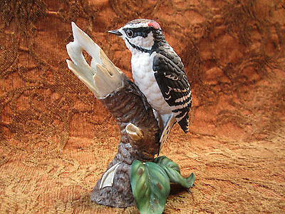 Lenox ceramic male downy woodpecker figurine