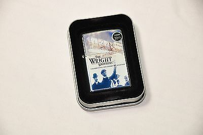 Wright Brothers Collectible Zippo Lighter 2003 Unused Tin 100 Years of Aviation