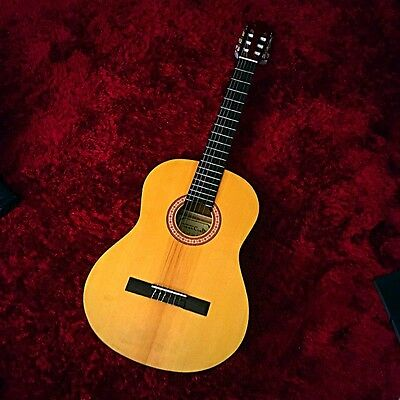 Classical Guitar (used once)+$30 Tuner+bag+NEW set of strings&and bag strap