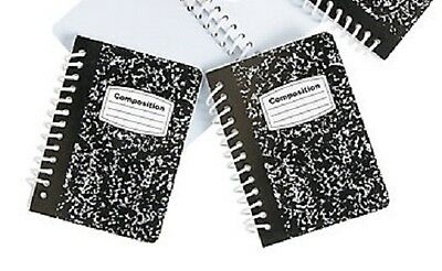 "2 Mini Spiral Composition Note Book s for 18"" American Girl Doll School Supplies"