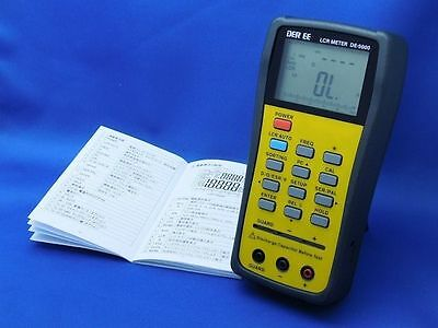 DER EE DE-5000 High Accuracy Handheld LCR Meter with TL-21 TL-22 NEW