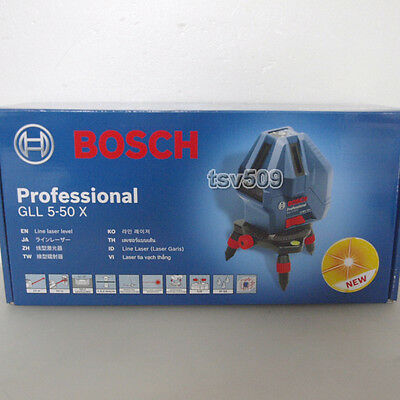 Genuine BOSCH GLL 5-50X Professional 5-Line Laser Self Level Measure Beam