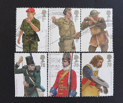 GB stamps - 2007 Military Uniforms (1st series).British Army Uniforms. Used.
