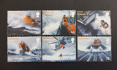 GB stamps - 2008 Rescue at Sea, MUH set of 6 stamps