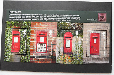 GB stamps -2009 Post Boxes minisheet