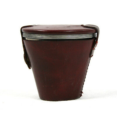 Vintage Mid Century Danish Stainless Steel Stirrup Cups Set of 4 Leather Case
