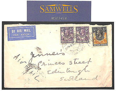 MS3458 1932 NORTHERN RHODESIA *Broken Hill* Scarce Commercial Airmail Cover GB