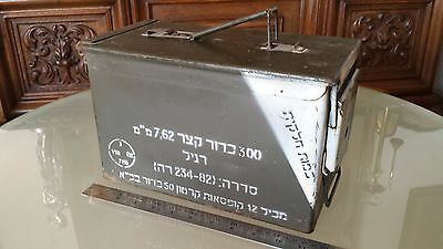 Metal Army Ammo Box 300 Cartridges 7.62 MM Israel Defense Forces IDF