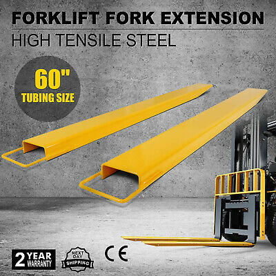 "60"" Steel Pallet Fork Extensions forklift lift truck slide on clamp FX60 5.5"""