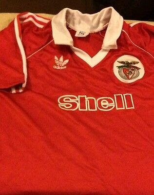 1980s Adidas Originals  SL Bemfica Football Shirt L/XL