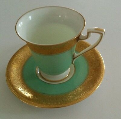 Royal Worcester Miniature Cup and Saucer c1904