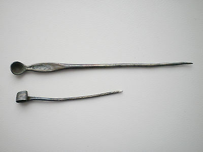 Unique Ancient VIKING Silver Ear pick Ear scoop and Pin circa  8 - 10 century AD