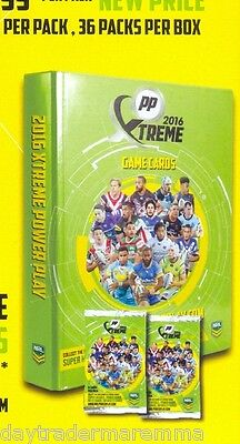 *7 Day Special**2016 NRL ESP Xtreme Power Play Album + 2 packets of cards
