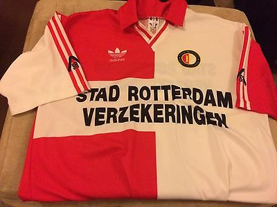 1980s Feyeenord Of Rotterdam Adidas Originals #10 M-L Mint  Netherlands ����