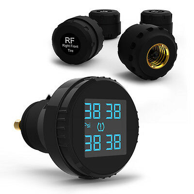 Car TPMS Tire Pressure Monitoring System Cigarette Lighter Wireless with 4Sensor