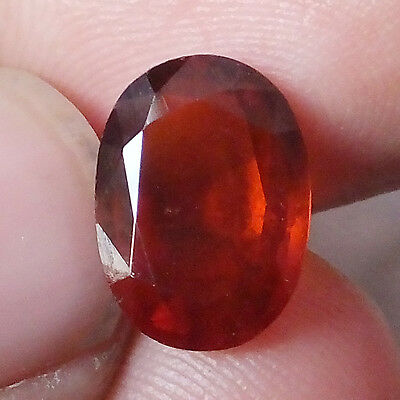 3.43 Carat Natural Unheated Hessonite Garnet 8.2X11.2 MM Oval Faceted Gemstone