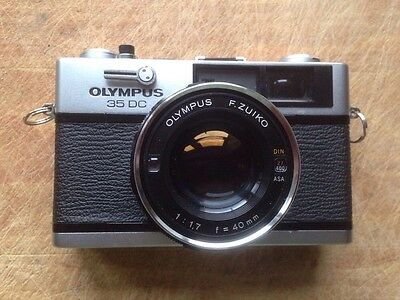 Olympus 35 DC classic 35mm rangefinder camera with sharp f1.7 40mm lens