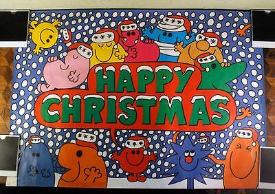 RETRO Vintage 80s Mr Men Little Miss Christmas Wrapping Sheet Paper Wrap Banner