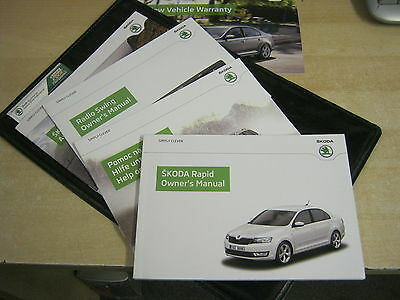 Skoda Rapid   Drivers Handbook Pack Owners Manual  2010-2015