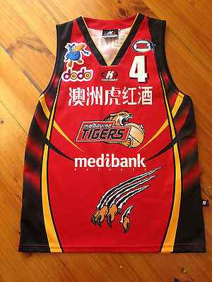 Nbl Basketball Melbourne Tigers Singlet - Size Small Adults - Daryl Corletto