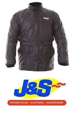 Ixs Nimes 2 Waterproof Over Jacket Motorcycle Motorbike Lightweight Black J&s