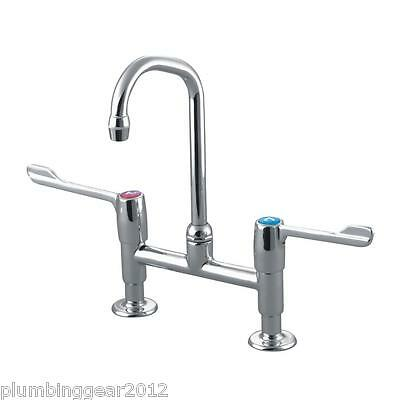 Armitage Shanks S8200AA Markwik two lever kitchen mixer pillar tap in chrome
