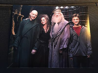 Fiennes Radcliffe Gambon Helena Carter Original Signed Photo Harry Potter £1