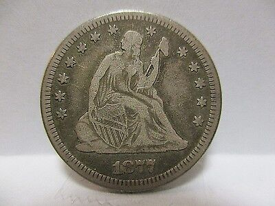 1877 25C Liberty Seated Quarter - Full Liberty - Very Nice details and tone.