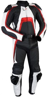 2016 Leather Sports Suit Motorbike Racing Biker Suit Ce Armoured 2Pc - All Sizes