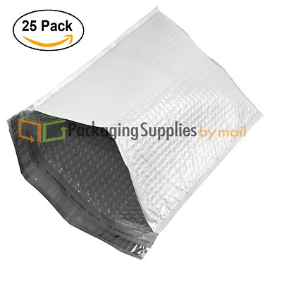 25 Packs Poly Bubble Mailer Envelope Shipping Mailing Bags Assorted Size