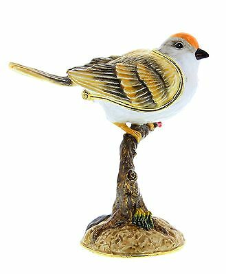 SPARROW Garden Bird TRINKET BOX, Figurine, Gift, Ornament, Collectable, Birds