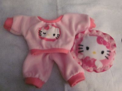 CPK doll clothes/14 inch/pink Hello Kitty jogging suit w/dark pink cuffs/pillow