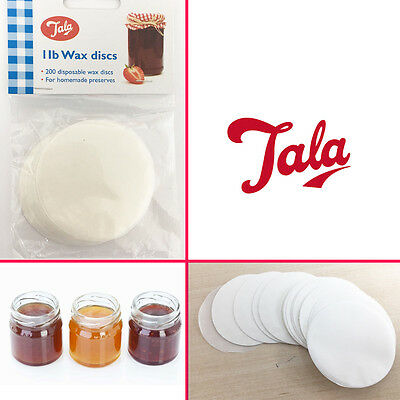 TALA 1LB 200 Jam Wax Discs for Homemade Jam,Chutney,Marmelade Preserves Storage