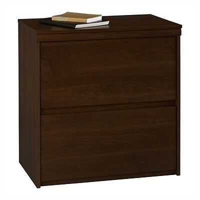 Filing Cabinet File Storage Drawer Wood Lateral Letter Legal 2 in Cherry
