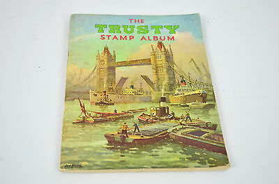 Vintage - The trusty stamp album with old stamps in - circa 1970's