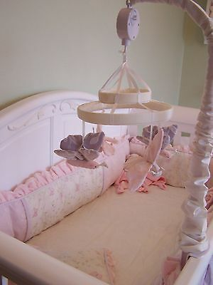 WENDY BELLISSIMO Butterfly Love Baby Nursery CRIB BUMPER PAD