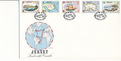 Jersey FDC 1978 Links with Canada