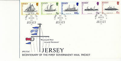 Jersey FDC 1978 Bicentenary of the First Government Mail Packet