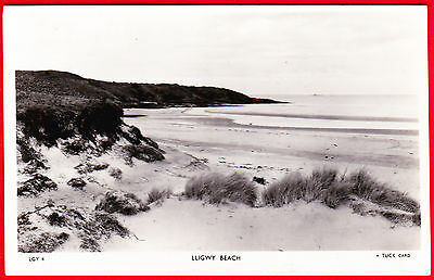 Postcard - LLIGWY BEACH Anglesey - TUCK REAL PHOTO - Posted 1950s - VGC