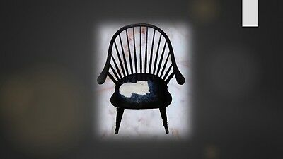 Lyssjart black solid wooden vintage rocking chair cat chaise berçante chat