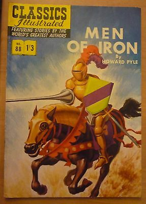 Classics Illustrated No 88 Men Of Iron - Howard Pyle (HRN 141) UK Issue